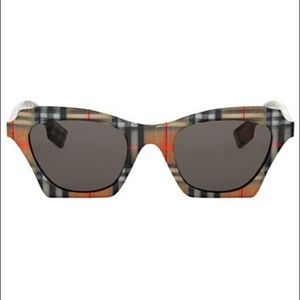 Burberry 49 mm Modified Butterfly Check Sunglasses